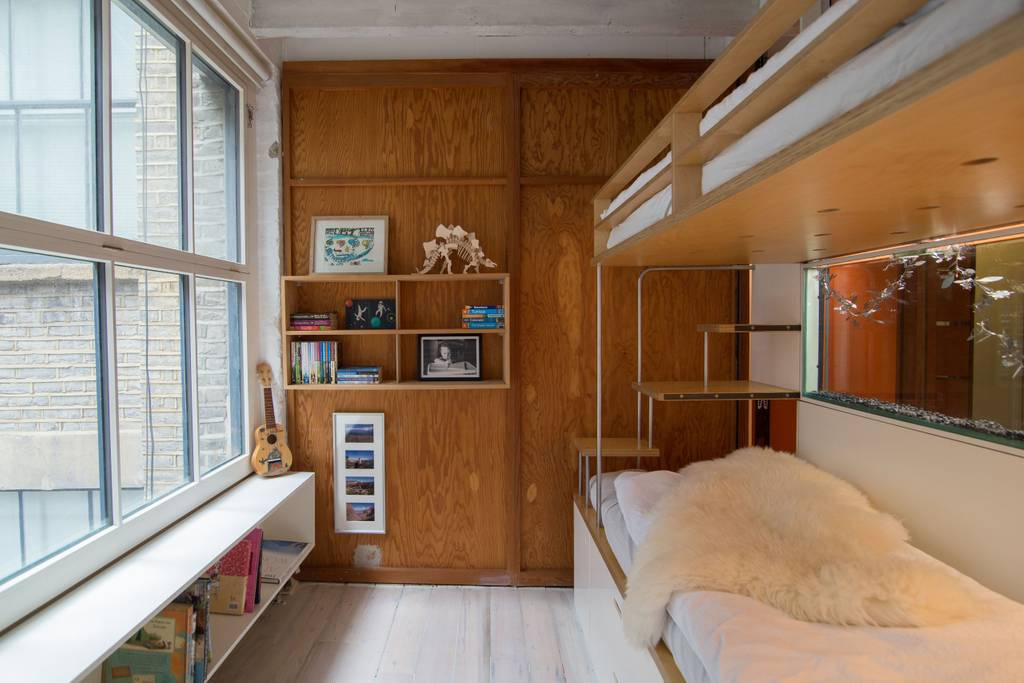 some bunk beds in a shoreditch loft apartment on Airbnb