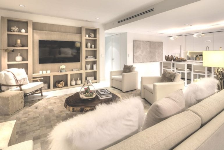 south beach penthouse living area