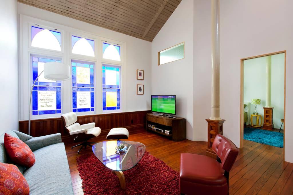 converted church in historic savannah victorian district airbnb