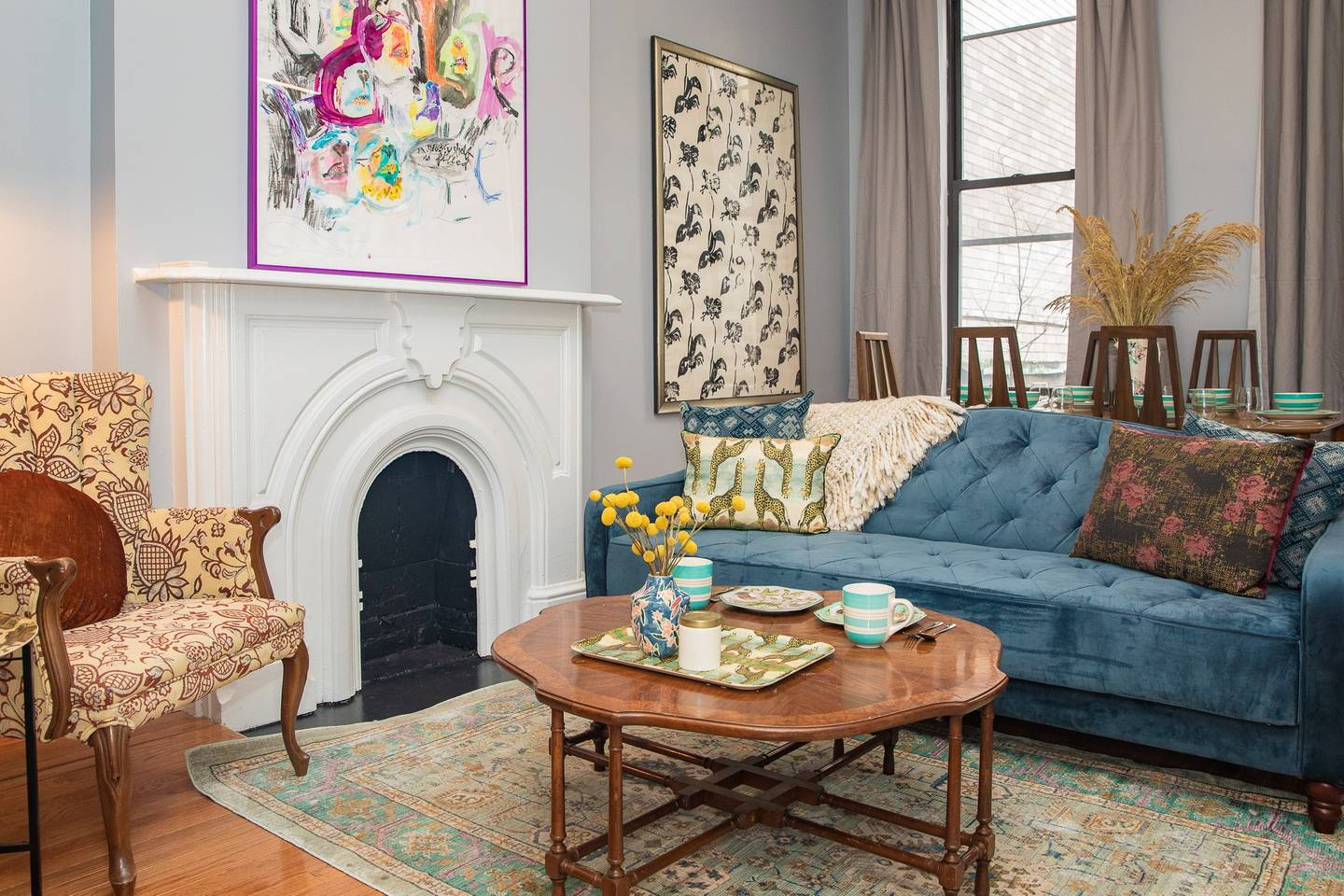 bohemian style apartment airbnb in the big apple