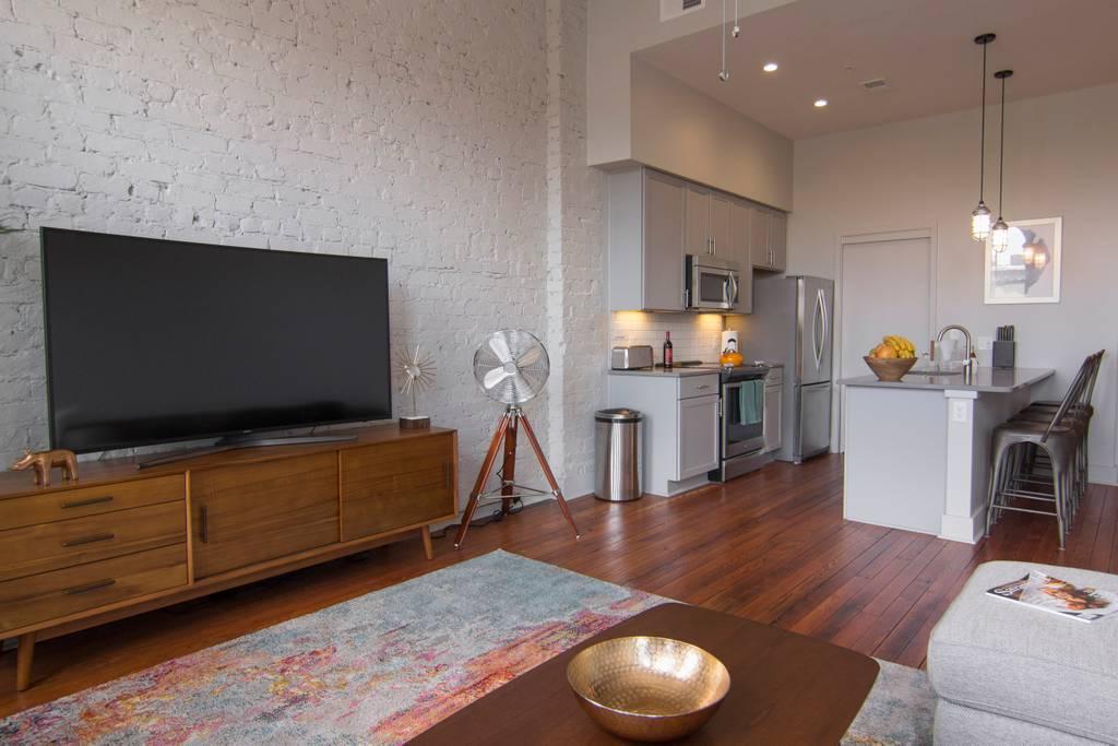 sweet mid century modern loft savannah