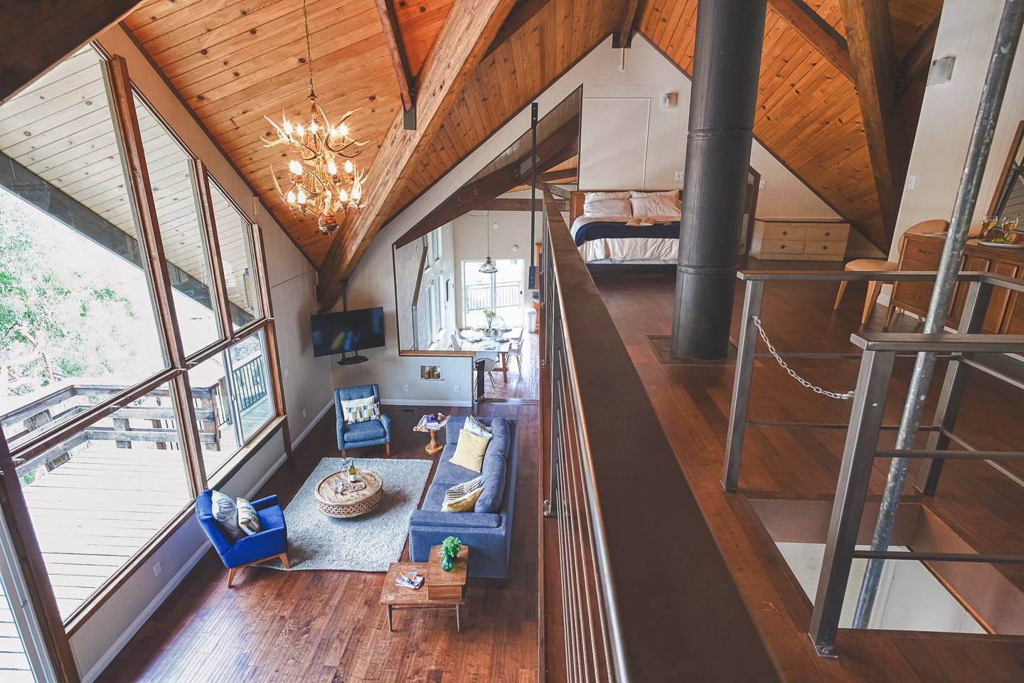 airbnb cabin inside sequoia park