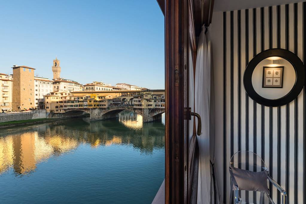 views of ponte vecchio from this airbnb apartment
