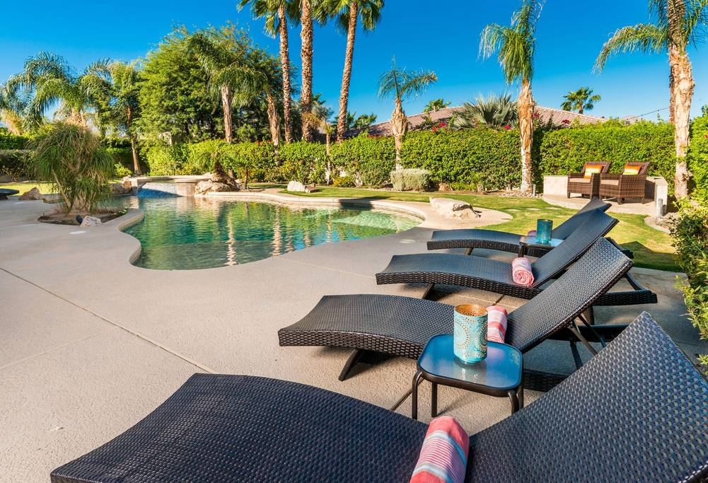 indio airbnb with pool and putting green close to coachella festival