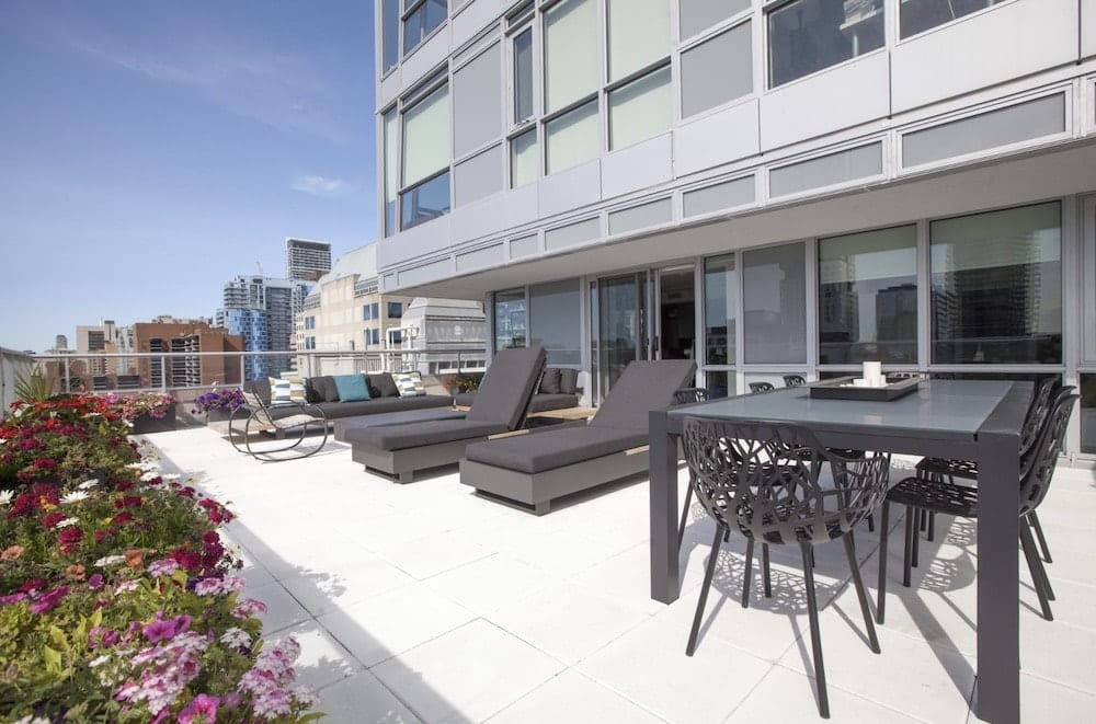downtown apartment with terrace airbnb toronto