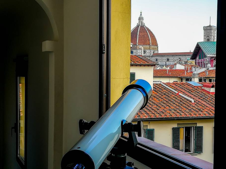 airbnb apartment with view over florence