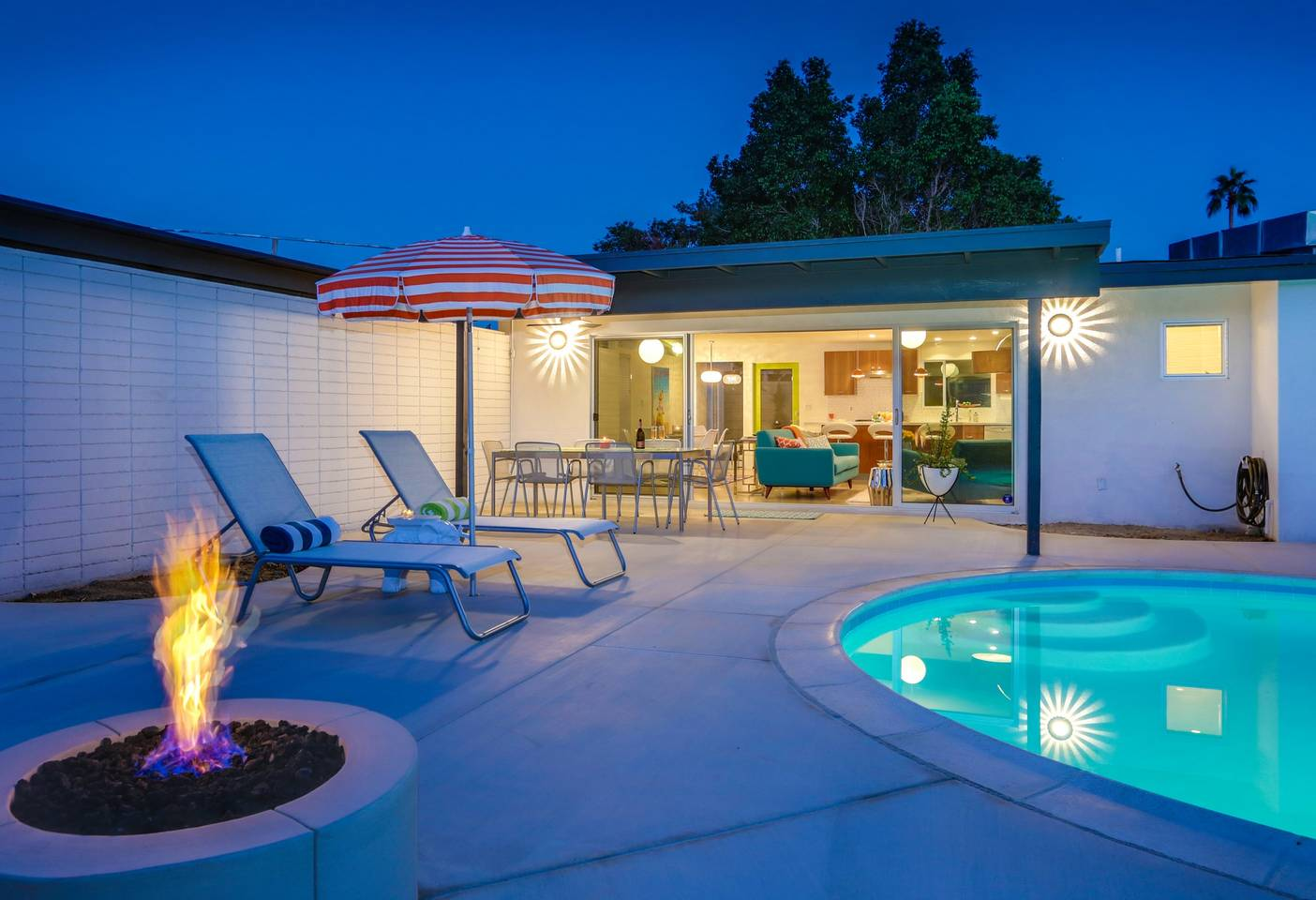 airbnb mid century modern home with pool coachella