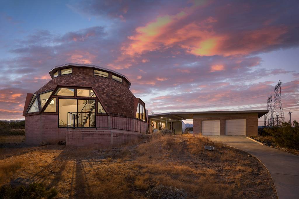 stunning glass dome home with desert views airbnb
