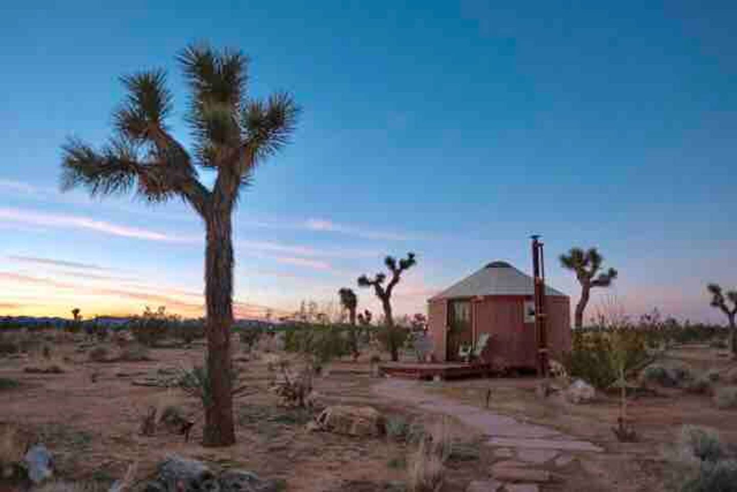 desert airbnb yurt in joshua tree