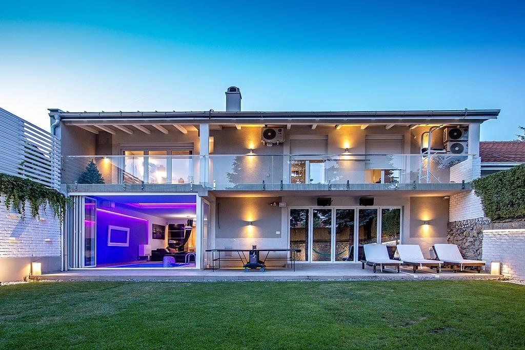 luxury party villa airbnb belgrade