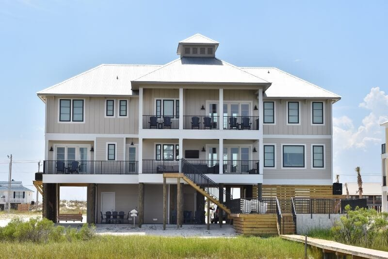 beach house with fishing pier gulf shores airbnb
