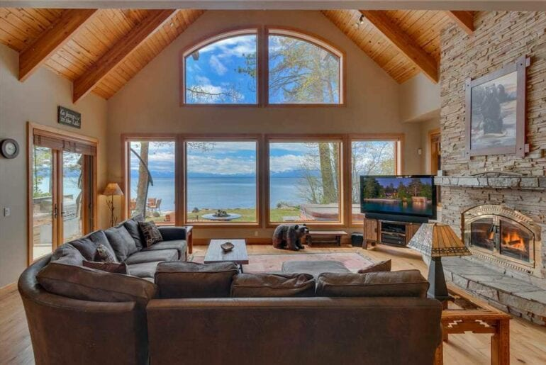 lakefront airbnb home lake tahoe