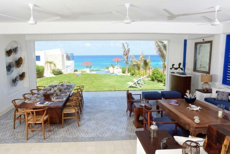 ocean front airbnb villa cancun
