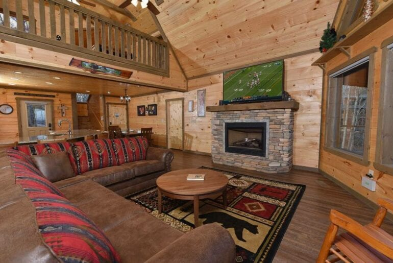 upscale cabin in the mountains