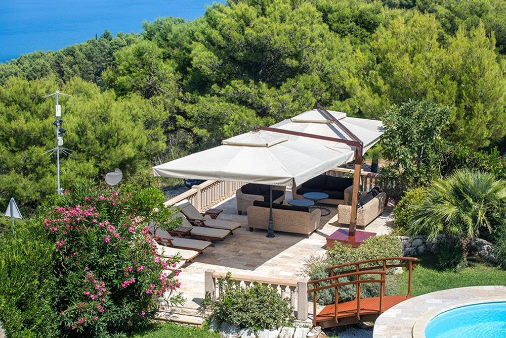 tropical villa with pool in croatia from airbnb