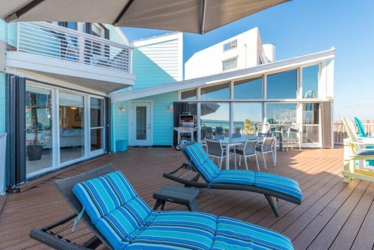 florida beach home deck views