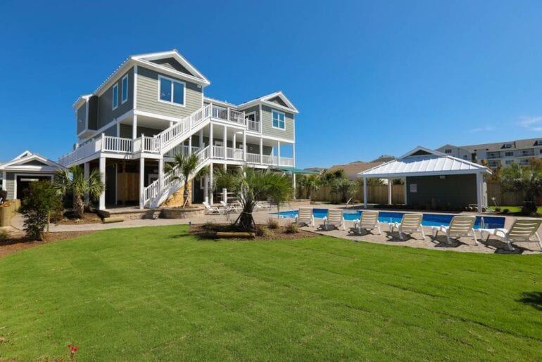large upscale beach home