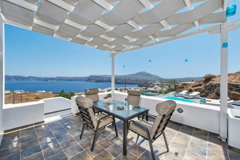 villa on the aegean sea