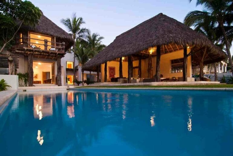 luxury home on private beach