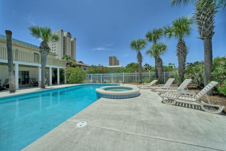 beach front pool home florida