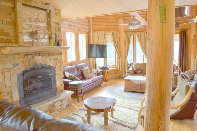 large log cabin home