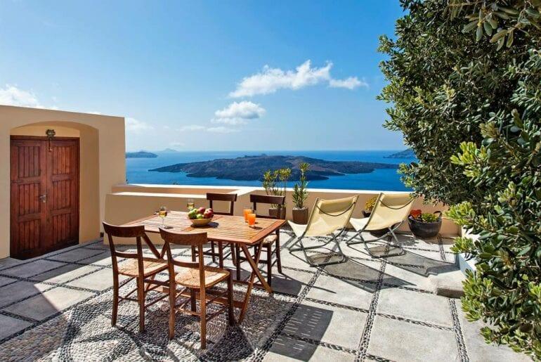 santorini airbnb villa