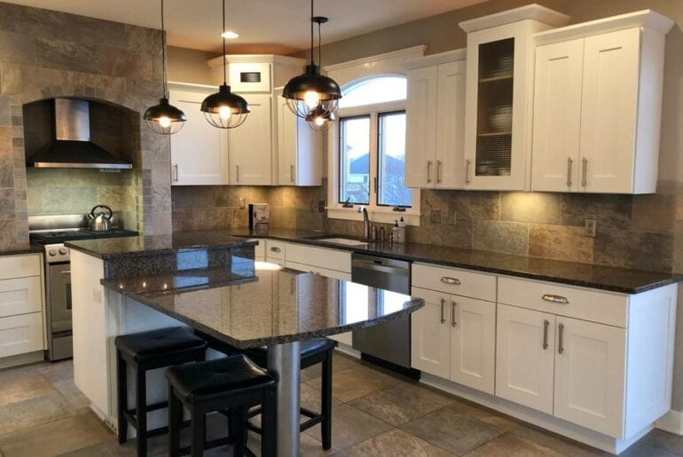 Bright kitchen with top-end appliances
