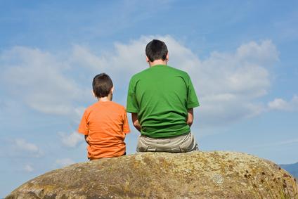 Montessori child and parent