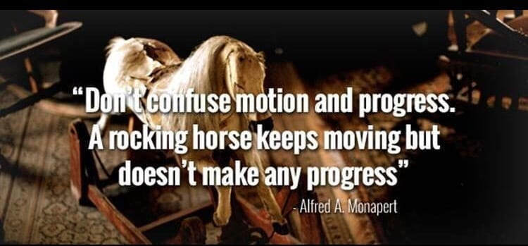 are you busy with motion vs. progress
