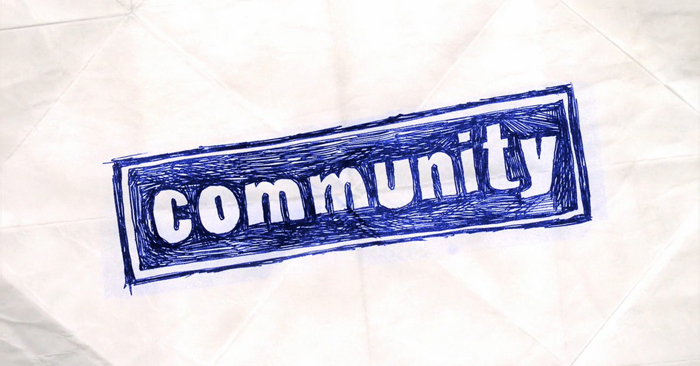 """So, in the spirit of """"building relationships"""", here's a quick youth group lesson on """"community""""."""