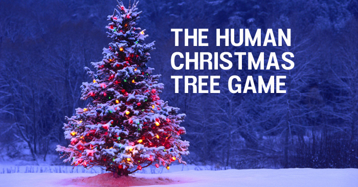 "Here's a fun youth group game called ""The Human Christmas Tree"". This game is a perfect add on to an upcoming Christmas event or service."