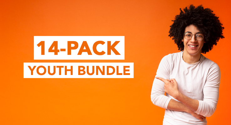 Includes a total of 8 youth series, 4 junior high series and 2 game packs.