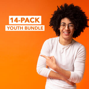Save 79% on $470 worth of youth ministry lessons and games. Includes a total of 8 youth series, 4 junior high series and 2 game packs.