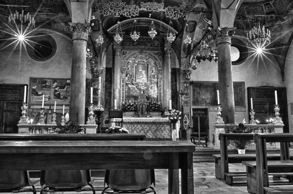 Inside the Church, San Giovanni Valdarno, Italy