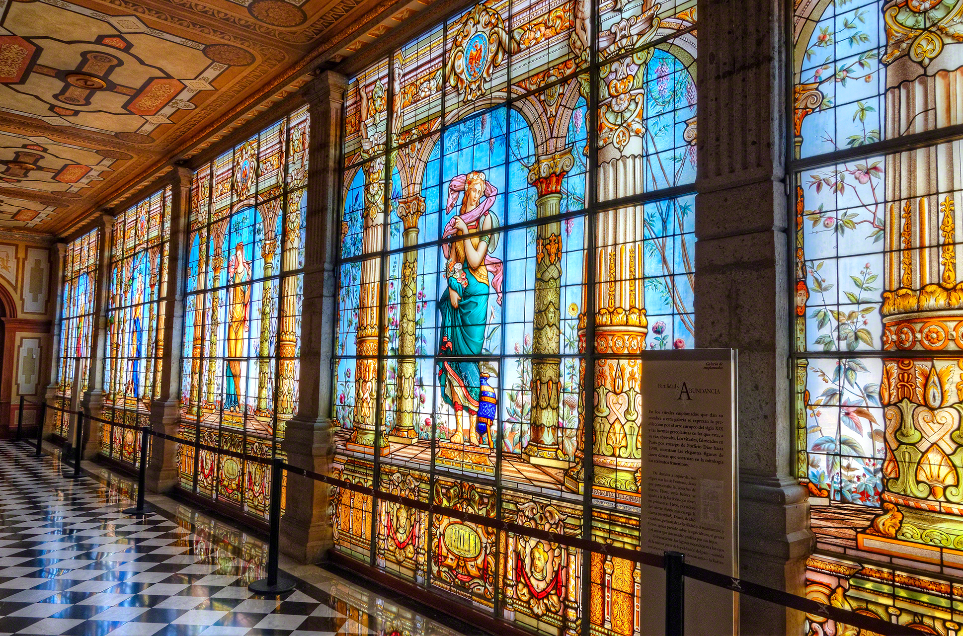Large Stained Glass Wall, Mexico City