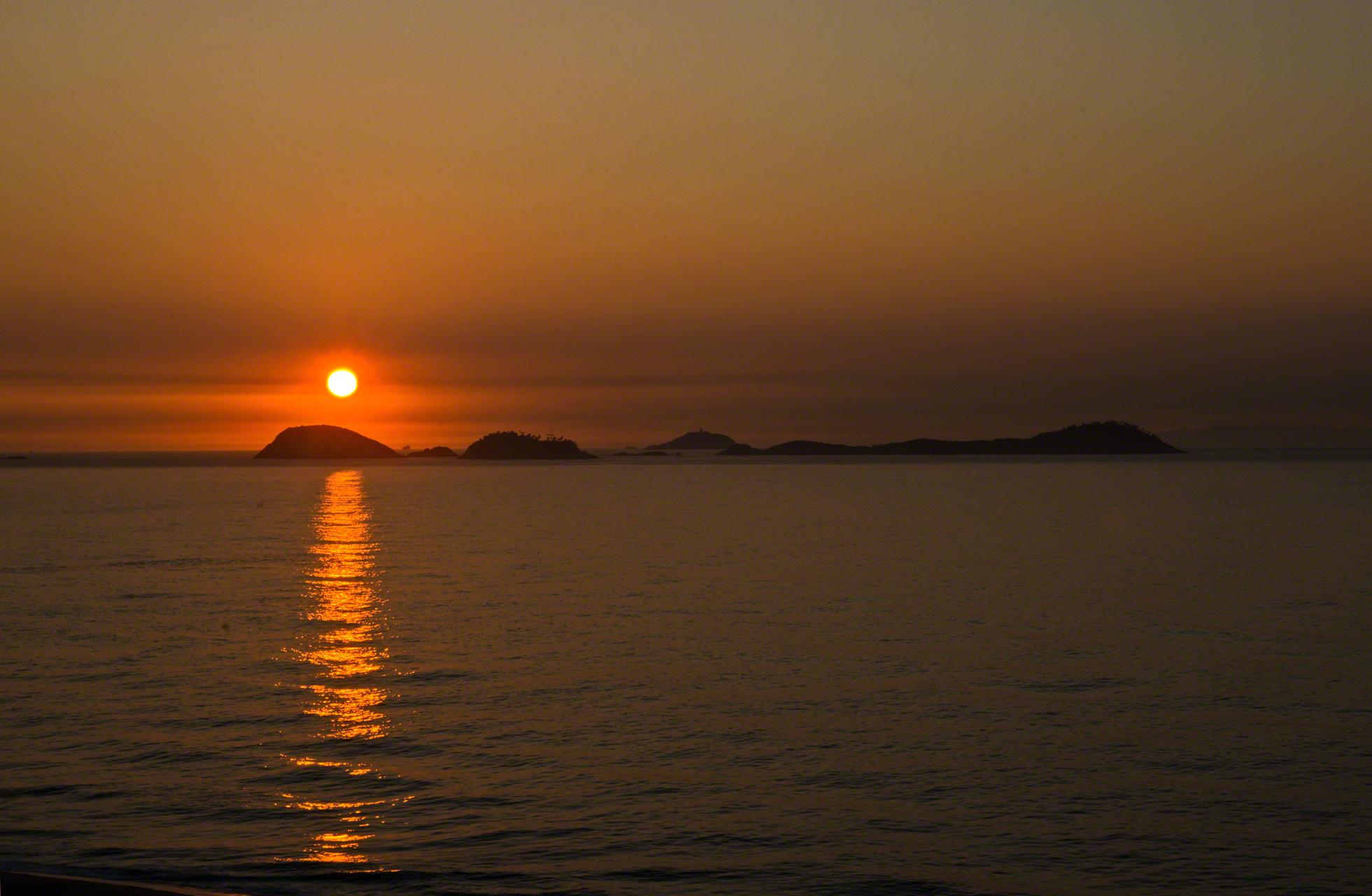 sunset photo in Rio, Brazil