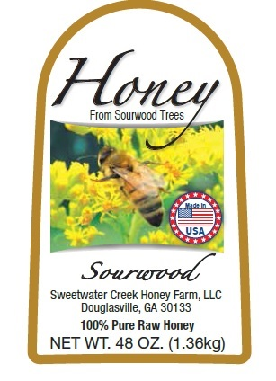 3lb Sourwood Label Picture