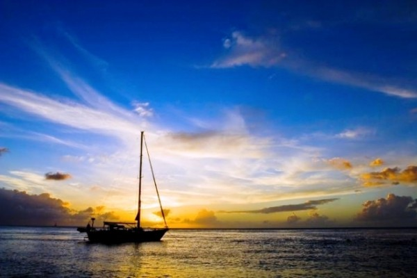 Sunset sailboat