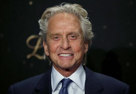 ACTOR MICHAEL DOUGLAS SAYS NO CRISIS IN MARRIAGE