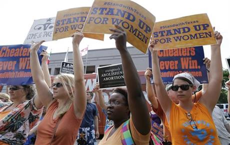 FED JUDGE: TEXAS ABORTION LIMITS UNCONSTITUTIONAL