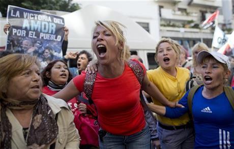 DOCTORS: ARGENTINE PRESIDENT 'EVOLVING FAVORABLY'