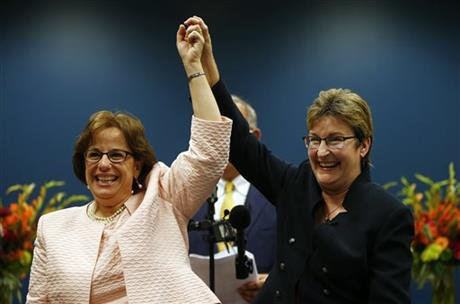 NJ GOVERNOR ENDS GAY MARRIAGE FIGHT AS COUPLES WED