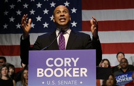 DEMOCRAT BOOKER WINS US SENATE ELECTION IN NJ