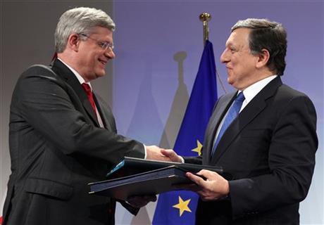EU, CANADA REACH LANDMARK FREE TRADE DEAL