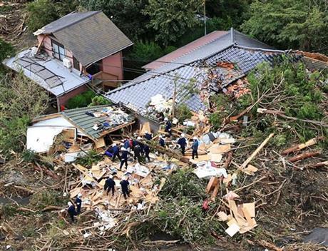 TYPHOON, MUDSLIDES KILL 17 IN JAPAN; 50 MISSING