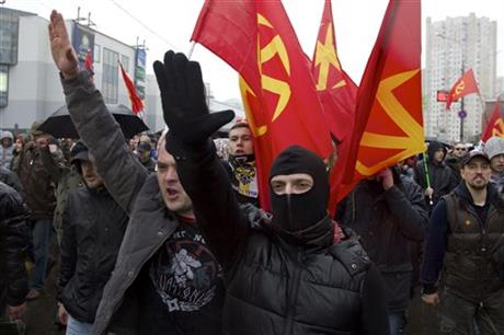 THOUSANDS OF RUSSIAN NATIONALISTS RALLY IN MOSCOW