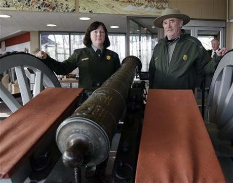 Cannon from 1777 battle back 'home' in upstate NY