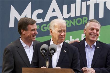 McAuliffe, Cuccinelli seek votes in Va gov race
