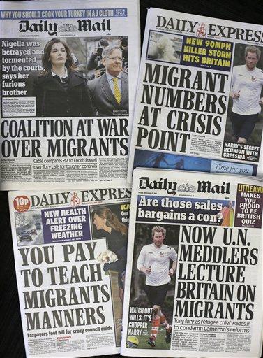 IMMIGRATION FEARS SPARK POLITICAL FIRESTORM IN UK