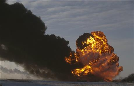 SAFETY QUESTIONS AFTER ND OIL TRAIN DERAILMENT